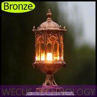 Compra Wecus light-Al por mayor (WECUS) envío libre, faros de columna al aire libre, las luces del balcón pilar impermeables, serie europea, sin fuente de luz, XJ-HWD0035