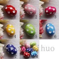 assorted acrylic beads - MM Assorted acrylic Polka Dot Chunky Spacer Jewelry Beads