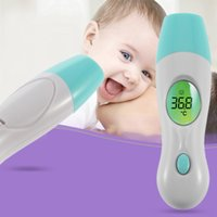 ambient temperature thermometer - 4 In Multi function Digital LCD Adult Baby Forehead Ear Ambient Clock IR Infrared Thermometer Temperature