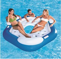 beach chaise lounge - Large adult water bestway bed viewseaborne casual inflatable beach chaise lounge Swimming Bed Relax Water Floating Outdoor Water sport