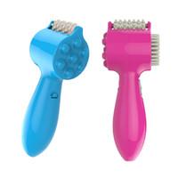 Wholesale Gift brain easily head massager mini USB multifunction electric comb new vibration massage hammer beating