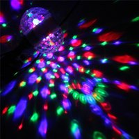 Wholesale High Quality E27 Rotating KTV Bar Disco Party Decor Lamp W Double Headed RGB LED Ball Stage Effect Lighting