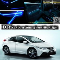 Wholesale For HONDA Civic Interior Light Tuning Atmosphere Fiber Optic Band Ambient Light Inside Door Cool Strip Light Refit