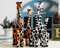 Wholesale New Christmas Children Gifts quot quot quot Giraffe Ornament Decration Wooden Handicraft set