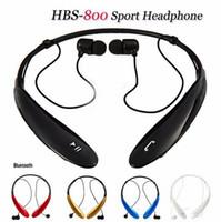 Wholesale Free DHL HBS HBS800 HBS Headphone Sports Stereo Bluetooth Headsets for Samsung Huawei iPhone Earphones