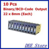bcd switch - Black mm x mm Digits Binary BCD Code Output Pushwheel Thumbwheel Switches KM1