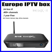 Wholesale DHL delivery Int Box i8 UK French German Android IPTV Box year Subscription fee European channels