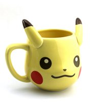 Wholesale Newest PokemonGo Pikachu Poke ball ceramic cups personalized animation cartoon modeling cups