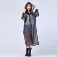 adult rain poncho - 60pcs Fashion Women EVA Transparent Raincoat Poncho Portable Light Raincoat NOT Disposable Rain Coat For Adult ZA0487