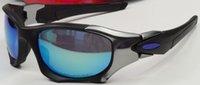 big black square sun glasses - Men black frame sun glasses Big Round oval sunglasses polarized goggle blue green red flash top sale color in case