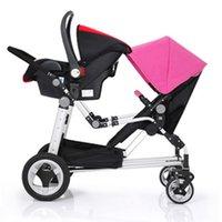 Wholesale Multifunction in Stroller Highview Folding Pram For Two Kids seat Deformable Pushchair Twins Stroller