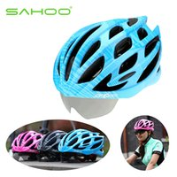 Wholesale New arrival SAHOO Cycling Helmet Goggles Bicycle Helmet MTB Road Bike Helmet Sunglasses Design Helmet Capacete Ciclismo Lens
