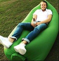 Cheap 2016 Lamzac Hangout Fast Inflatable Air Sleep Camping Bed Beach Sofa Lounger Sleeping Bag Lazy Chair DHL Free