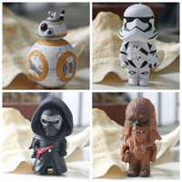 Wholesale 2016 Star Wars Starwars Toys The Force Awakens BB8 BB Droid Robot Kelo Chewbacca Pendant Action Figure PVC Keychains Key Ring