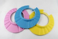 Wholesale Hot Sale adjustable Baby Safety Shampoo Shield Hat kid s bath shower cap Bath Shower Wash Hair Shield Hat Cap
