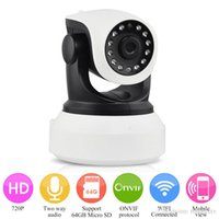 Wholesale 720P HD IP CCTV Wireless Camera IR Cut Night Vision P2P Baby Monitor Audio Record WIFI CCTV Onvif Indoor Surveillance Camera Freeshipping