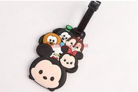 Wholesale 200pcs High Quality Tsum Mickey Silicone Luggage Tag Name Tag Label Travel Trip Suitcase Tag Classic TSUM Mickey Minnie Luggage Tag