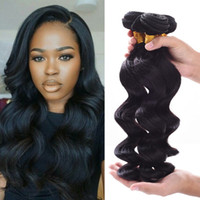Wholesale Brazilian Human Hair Bundles Loose Weave A Unprocessed inch Brazilian Weave Human Hair Bundle Deals Natural color Can Be Dyed