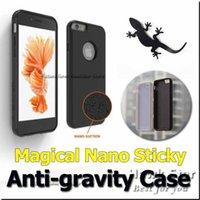 apple nano cases - For iPhone SE S Plus Samsung NOTE s6 s7 edge Anti Gravity Selfie Case Magical Nano suction Sticky cover