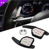 Wholesale 2pcs Carbon Fiber Steering Wheel Shift Paddles For Audi A3 A4L A5 A6 A8 S5 Q5 Q7 TT