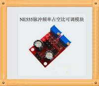 adjustable frequency drives - NE555 pulse frequency adjustable duty cycle square wave rectangular wave signal generator motor drive