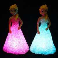 Wholesale 2016 hot present New Kids Toys Snow and ice colors colorful crystal small night lights Anna leds creative gift night market