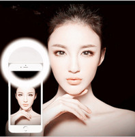 Wholesale LED selfie ring light Flash spotlight circle round fill in light lamplight speedlite Enhancing photography for iphone plus samsung note