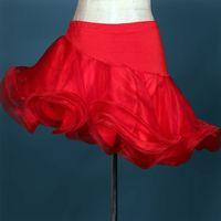 Wholesale A27 New Adult Latin Dance Dress Salsa Tang Cha cha Ballroom Competition Group Dance Skirt Color S XXL Customizable