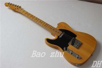 Wholesale NEW Custom TL left handed Electric Guitar in Natural maple fingerboard Musical instruments HOT OEM guitar