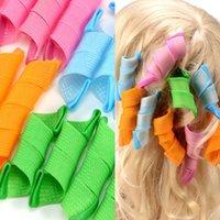 Wholesale 18pcs DIY Amazing Magic Leverag Hair Curlers Curlformers Plastic Hair Roller Hooks Hair Styling Tools