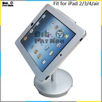 aluminium ipad case - tablet Holder Mount for iPad air stand aluminum metal case stand desktop holder lockable safety desktop Holder stand for desk