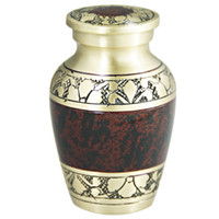 Wholesale Mini Keepsake Cremation Urns Funeral Urns for Ashes or Pet Memorial Hand carved from brass Fits a Small of Cremated Tranquility Brown