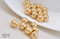 Wholesale Brass Loose Round Spacer Beads Jewelry Making Findings Real Gold Thick Rack Plated for Necklace Bracelet DIY mm