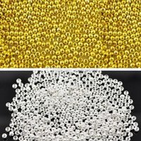 Wholesale Home MM Round Metal Ball Spacer Beads DIY Jewelry Making Findings C00468 SPDH