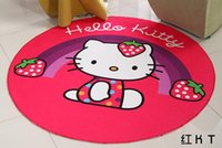 Wholesale Red Kitty Baby Kid Game Blanket Crawl Non slip Mat Cotton Toys Receive Mat photography props