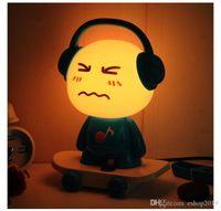 Wholesale Music Boy Small Desk Lamp Bed Head Night Light Table Lamp DJ Skateboard Cute Boy Night Light Cartoon Desk Lamp Creative Lamp
