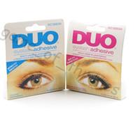 Wholesale False Eyelash glue DUO anti sensitive hypoallergenic Makeup Waterproof Adhesive Eyelashes glue white and black glue