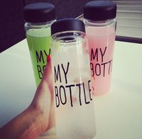 plastic water bottle sports - Hot plastic sports water bottle Garrafa de agua Stylish simplicity my bottle ml whey protein my bottle with bag