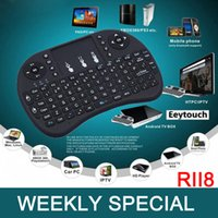 Wholesale Weekly Special Rii Air Mouse Wireless Handheld Keyboard Mini I8 GHz Touchpad Remote Control MXIII M8 TV BOX Game Play Tablet Keyboards
