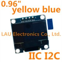 Wholesale quot yellow blue inch OLED module New X64 OLED LCD LED Display Module For Arduino quot IIC I2C