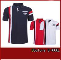 aston sport shirts - 2017 Summer Hot In Spain Fashion Sport Polo Shirt Men ASTON MARTIN RACING Cotton Polos Shirts