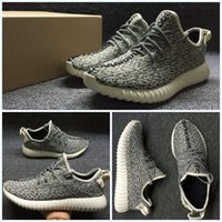 red plaid fabric - Kanye West Yeezy Sport Shoe Oxford Tan Yezy boost Running Shoes Footwear Sneakers Men And Women big discount
