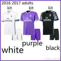 adult football pants - 2016 adult kit Soccer Jerseys Coat pants football Real Cristiano Ronaldo Bale James Kroos Benzema Soccer uniform Madrid Jersey