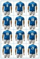 baggio shirt - Fast Italy European cup Uniforms Kit ZAZA TOTTI PIRLO VERRATTI MARCHISIO BAGGIO Home Blue Soccer Jersey shirt