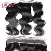 Wholesale 8A Brazilian Virgin Human Hair Frontal Lace Size Body Wave Lace Frontal Closure DHL Shipping XBLHair