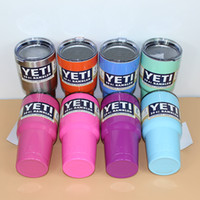 Wholesale 30 oz Colors YETI Tumbler Rambler Cups Yeti Coolers Cup Yeti Sports Mugs Large Capacity Stainless Steel Travel Mug With Logo