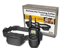 Wholesale for dogNew LCD REMOTE CONTROL LV Shock Vibra Remote Electric Dog Training Collar ZD081B