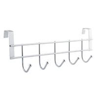 Wholesale 5 hooks Stainless Steel Clothes Hooks Door Bathroom Kitchen bedroom Towel Hanger hanging Loop Organizer