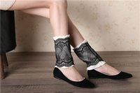 Wholesale 2016 AW NEWEST WOMEN KNITTED FASHION LACE BOOT CUFFS LEGWARMERS DIFFERENT WAYS TO WEAR IN COLORS