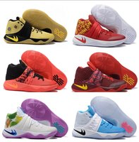Cheap Hot Sale Kyrie 2 II Tie Dye Inferno Men Basketball Shoes Wholesale Cheap Original Quality Kyrie2 For Mens Sports Sneakers Size 8-12